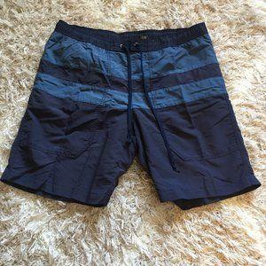 Blue stripe Eddie Bauer Men's M swim trunks